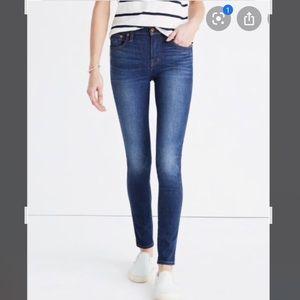 "Madewell 9"" High Riser Skinny Skinny sz 27 Tall"